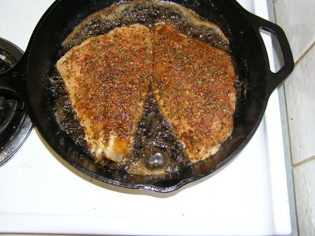 Catfish in the pan